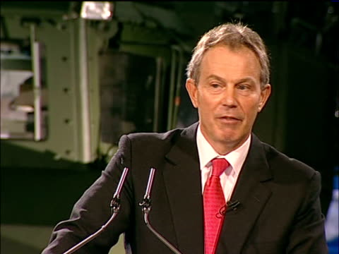 Blair calls for British military intervention to combat terrorism Blair speech on board HMS Albion The battle will be long it has taken a generation...