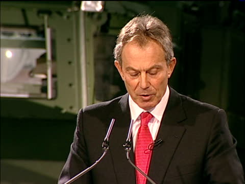 Blair calls for British military intervention to combat terrorism Blair speech on board HMS Albion They are not a conventional army they can't be...