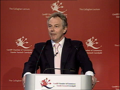 blair gives speech on the regeneration of britain's cities during visit to cardiff tony blair speech sot continues by the late 1980s many of our... - newly industrialized country stock videos & royalty-free footage