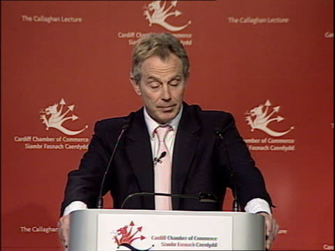 Blair gives speech on the regeneration of Britain's cities during visit to Cardiff Tony Blair speech SOT continues The fact is you can talk to a...