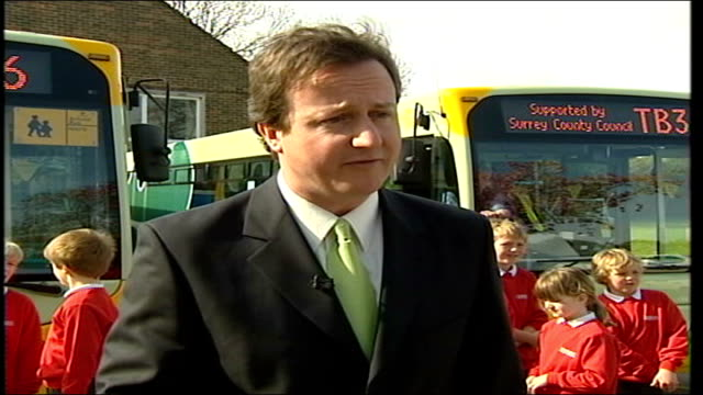 blair hits campaign trail prior to local elections; guildford: tillingbourne school: ext david cameron mp interview sot - prime minister has got to... - charles clarke uk politician stock videos & royalty-free footage