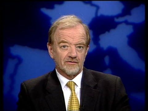 blair justifies during kuwait trip itn england london gir int robin cook mp interviewed sot case for war was made by bush tony rumsfeld that we had... - weapons of mass destruction stock videos and b-roll footage