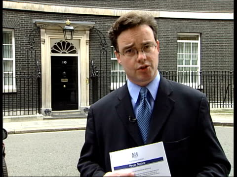 Blair responds to Queen Mother criticism ITN Downing Street EXT i/c JERSEY Prime Minister Tony Blair MP across and greeted INT Tony Blair MP speaking...