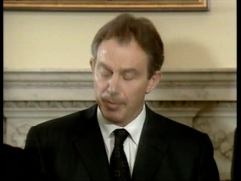 blair speaking about the engagement of british forces in afghanistan/ london, england/ audio - 2001 stock videos & royalty-free footage