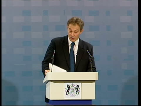 blair speech on iraq war and threat from terrorism pool durham sedgefield tony blair mp speech sot it may well be that under international law as... - weapons of mass destruction stock videos & royalty-free footage