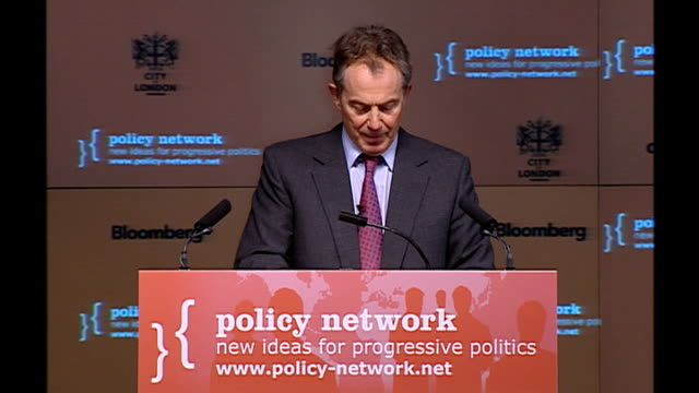Blair speech to Policy Network conference Speech details Tony Blair MP speech SOT The European social model is a sort of metaphor for the challenge...