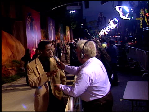 vidéos et rushes de blair underwood at the dvd release of 'the lion king' at the el capitan theatre in hollywood california on october 3 2002 - blair underwood
