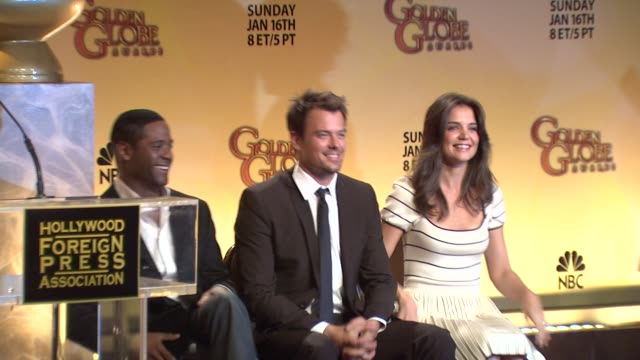 blair underwood josh duhamel and katie holmes at the 68th annual golden globe awards nominations at beverly hills ca - nomination stock videos & royalty-free footage