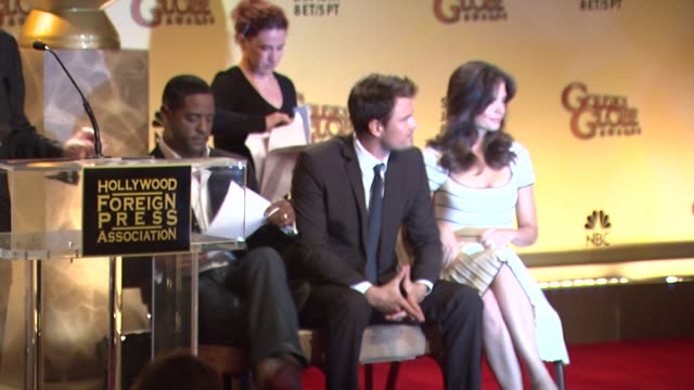 vidéos et rushes de blair underwood josh duhamel and katie holmes at the 68th annual golden globe awards nominations at beverly hills ca - blair underwood