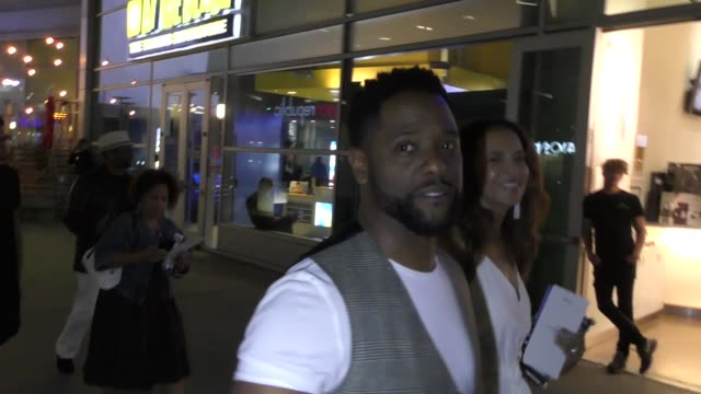 vidéos et rushes de blair underwood leaves the after party screening at arclight cinemas in hollywood in celebrity sightings in los angeles - blair underwood