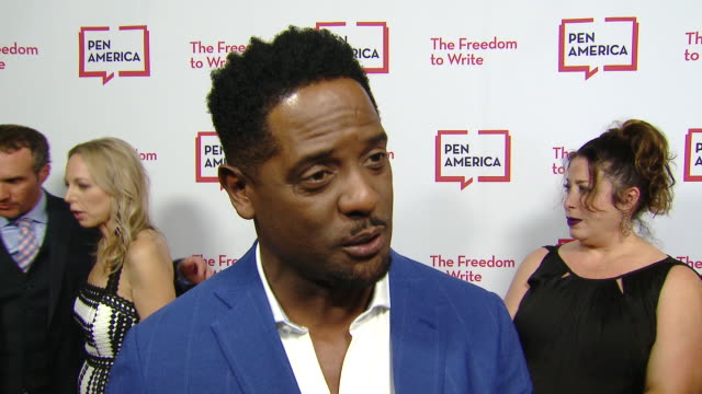 vidéos et rushes de interview blair underwood on how he feels to be at the litfest gala why the work pen america is doing is important and what he thinks the biggest... - blair underwood