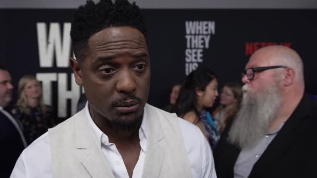 vidéos et rushes de interview blair underwood on the men who suffered being falsely accused were irreparably affected at world premiere of when they see us at the apollo... - blair underwood