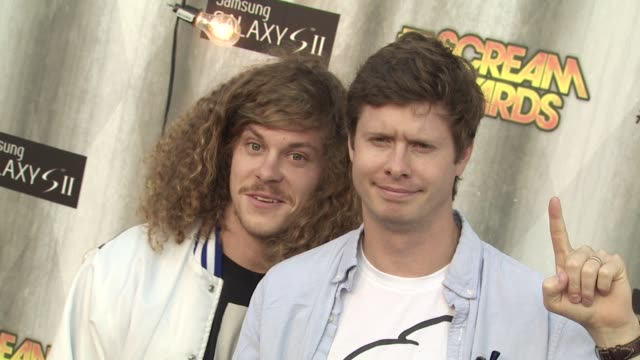 blake anderson and anders holm at the spike tv's 'scream awards at universal city ca - universal city stock videos & royalty-free footage