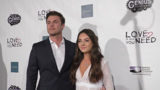 blake cooper griffin ava allan at the love is all you need premiere on november 15 2016 in hollywood california - griffin stock videos & royalty-free footage