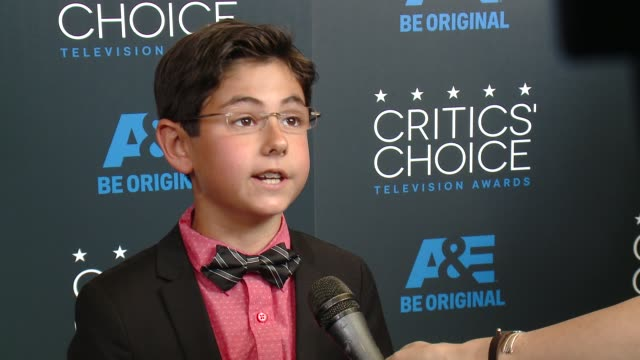 blake garrett rosenthal on being at the event, and on being nominated at the 2015 critics' choice television awards at the beverly hilton hotel on... - 放送テレビ批評家協会賞点の映像素材/bロール