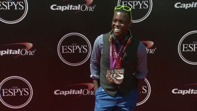 vídeos de stock, filmes e b-roll de blake leeper at the 2014 espy awards in los angeles ca - espy awards