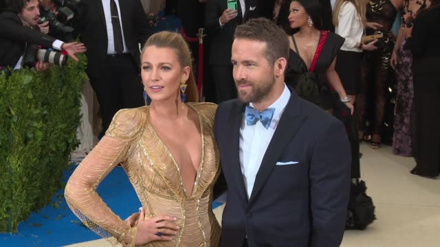 blake lively and ryan reynolds at rei kawakubo/comme des garcons art of the inbetween costume institute gala arrivals at the metropolitan museum of... - gala stock videos and b-roll footage
