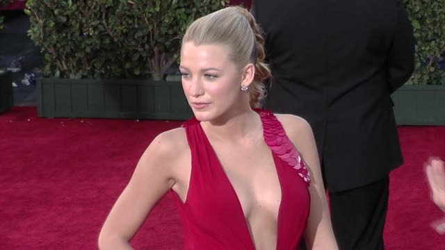 blake lively at the 61st annual primetime emmy awards - arrivals part 4 at los angeles ca. - ceremony stock videos & royalty-free footage