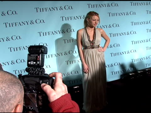 blake lively at the tiffany co launch of the 2008 blue book collection at the american museum of natural history in new york new york on october 28... - 2007 stock videos & royalty-free footage