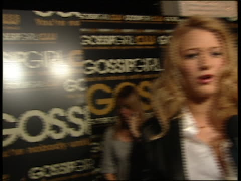 Blake Lively Interview at the Gossip Girl Premiere Party