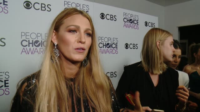 INTERVIEW Blake Lively on her PCA win and where she will be keeping the award at the People's Choice Awards 2017 at Microsoft Theater on January 18...