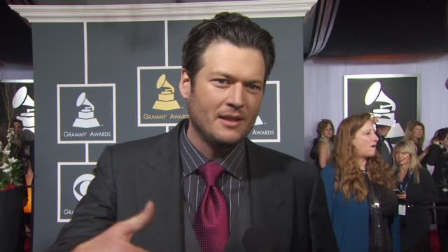 blake shelton on indtroducing his fiancé miranda lambert how it is a big night for miranda and if she is feeling the pressure how he is looking... - fiancé stock videos and b-roll footage