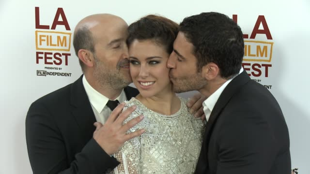 blanca suarez, miguel angel silvestre, javier camara at 2013 los angeles film festival - i'm so excited opening night gala premiere on 6/13/2013 in... - silvestre bildbanksvideor och videomaterial från bakom kulisserna
