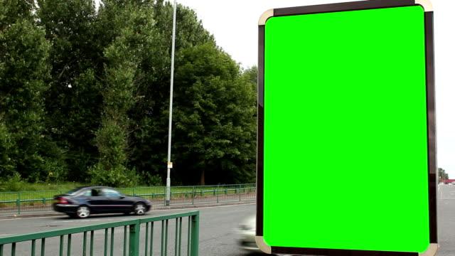 Blank Advertising Billboard (portrait)- Green Screen