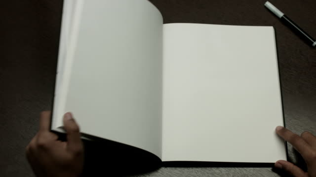 blank book - note pad stock videos & royalty-free footage