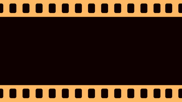 Blank Camera Film Reel Scrolling To The Right Background Animation