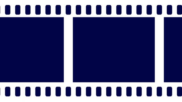 空白相機膠捲卷軸滾動到正確的背景動畫 - 底片 個影片檔及 b 捲影像