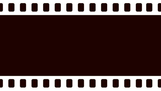 Leere Kamera Filmrolle Scrollen nach rechts im Hintergrundanimation