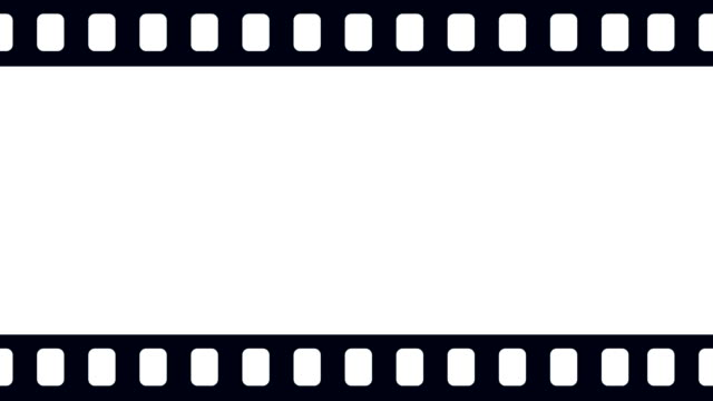 blank camera film reel scrolling to the right background animation - frame border stock videos and b-roll footage