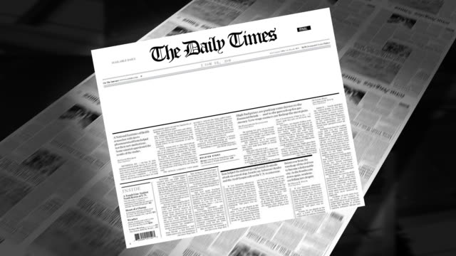 blank - newspaper headline (intro + loops) - newspaper stock videos & royalty-free footage