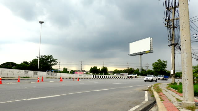 blank screen billboard in bangkok - blank screen stock videos & royalty-free footage