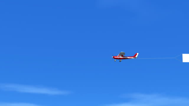 blank sky banner hd1080 - propeller aeroplane stock videos & royalty-free footage