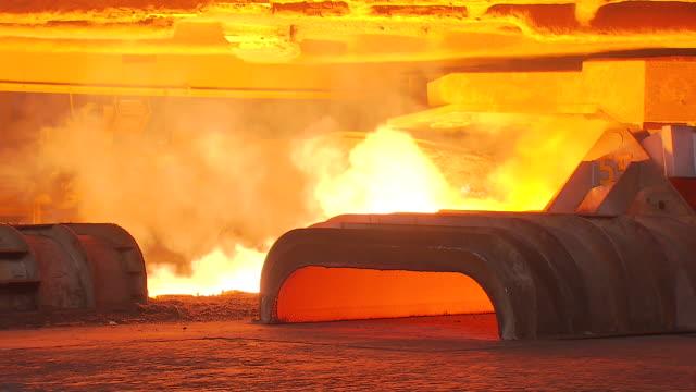 Blast furnace in steel mill