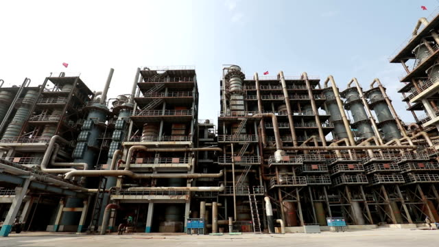 blast furnace of chemical plant - blast furnace stock videos & royalty-free footage