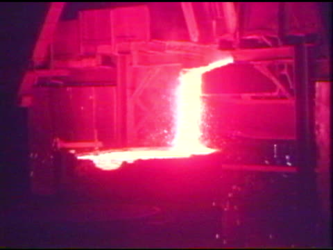 blast furnace producing molten ore - blast furnace stock videos & royalty-free footage