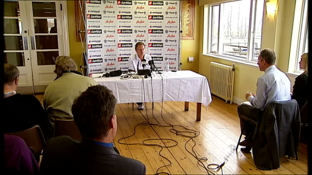 Blatter apologises for comments on racism ENGLAND Middlesex Harlington Press at press conference with QPR manager Neil Warnock Neil Warnock press...