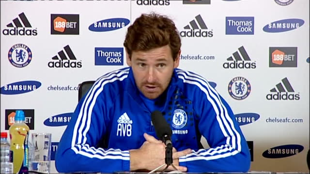 blatter apologises for comments on racism surrey cobham int chelsea manager andre villasboas at press conference andre villasboas press conference... - cobham surrey stock videos and b-roll footage