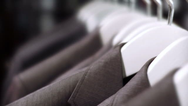 hd: blazer in the store - medium group of objects stock videos & royalty-free footage