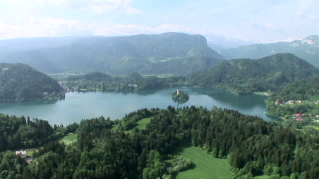 hd: bled - lake bled stock videos & royalty-free footage