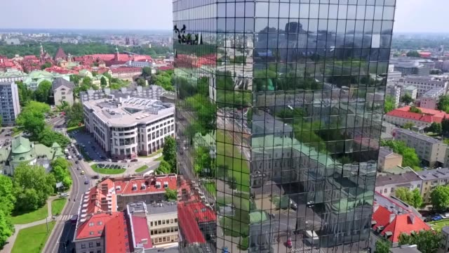 blekitny high-rise in warsaw - warsaw stock videos & royalty-free footage