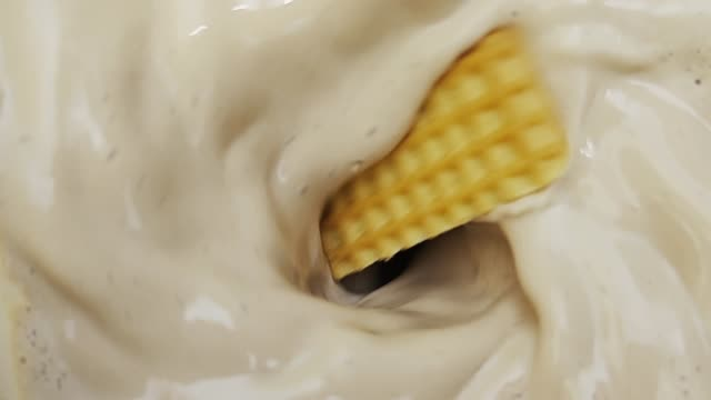 blending cookies and cream at slow motion - sine wave stock videos & royalty-free footage