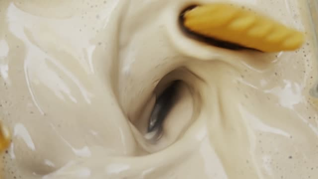 blending cookies and cream at slow motion - smoothie stock videos & royalty-free footage