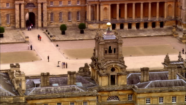 aerial, blenheim palace, woodstock, oxfordshire, england - oxfordshire video stock e b–roll