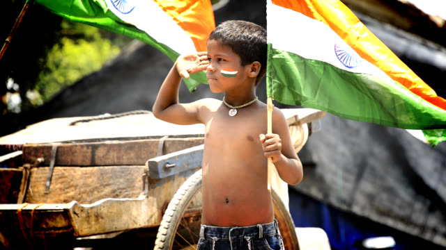 salute - indian flag stock videos & royalty-free footage