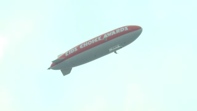 blimp at nickelodeon's 25th annual kids' choice awards on 3/31/2012 in los angeles, ca. - nickelodeon stock videos & royalty-free footage