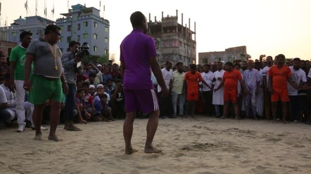 blind beggars going to attend kabaddi play in dhaka, bangladesh, on october 21, 2016. blind beggar in bangladesh arrange a kabaddi competition in... - bling bling stock-videos und b-roll-filmmaterial